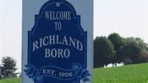 The Welcome to Richland sign.