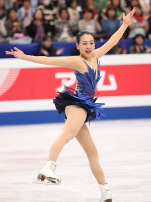 Mao Asada of Japan competes in the Ladies Free Skating during ISU World Figure Skating Championships at Saitama Super Arena on March 29.