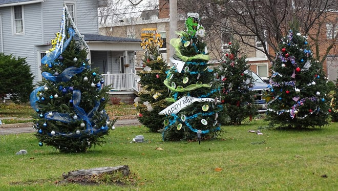 Fourteen local businesses and organizations are competing to win the 2016 Gift of Lights for the best-decorated tree at Adams Street Park in downtown historic Port Clinton.