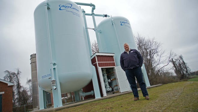 Jay Guyer, water supervisor for the city of New Castle, stands at the School Lane Water Treatment facility on Tuesday.