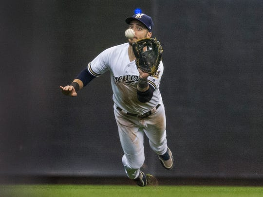 Brewers leftfielder Ryan Braun is on the disabled list with a calf injury.