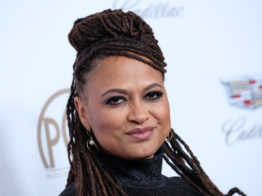 Ava DuVernay arrives at the 2018 Producers Guild Awards.