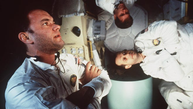 Tom Hanks, Kevin Bacon and Bill Paxton star in Ron Howard's Apollo 13 (1995), now available on Blu-ray.
