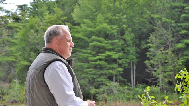 U.S. Secretary of the Interior David Bernhardt takes in the view of Upper Peverly Pond during a tour of the Great Bay National Wildlife Refuge. There'll be a Great Bay Walkabout this Saturday, Oct. 16 from 9 a.m. to 3 p.m. at the refuge.