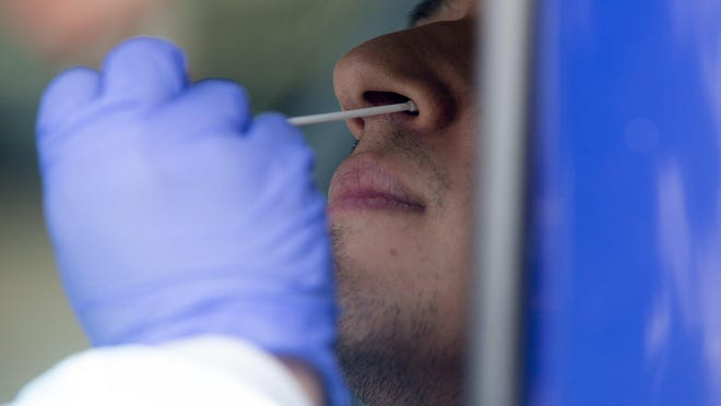 Austin-Travis County health officials reported 96 new coronavirus cases in the county on Sunday.