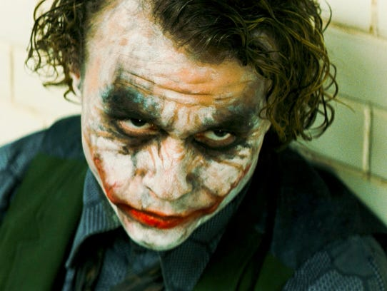 Heath Ledger stars as The Joker in 'The Dark Knight.'