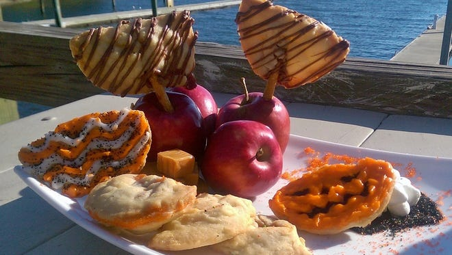 Caramel apple pillow cookies by Chef David WIlliams.