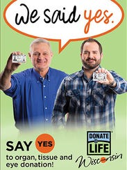 New marketing materials for Donate Life Wisconsin focused