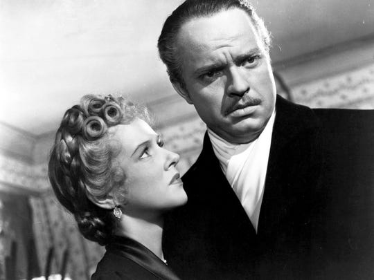 """Orson Welles and Dorothy Comingore in """"Citizen Kane."""""""