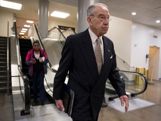 Senate Judiciary Committee Chairman Chuck Grassley,
