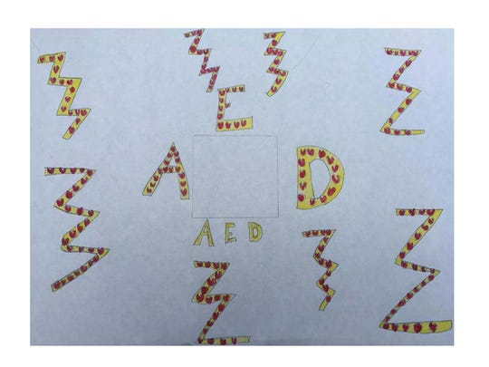 AED art contest design by Elise Skilbred.
