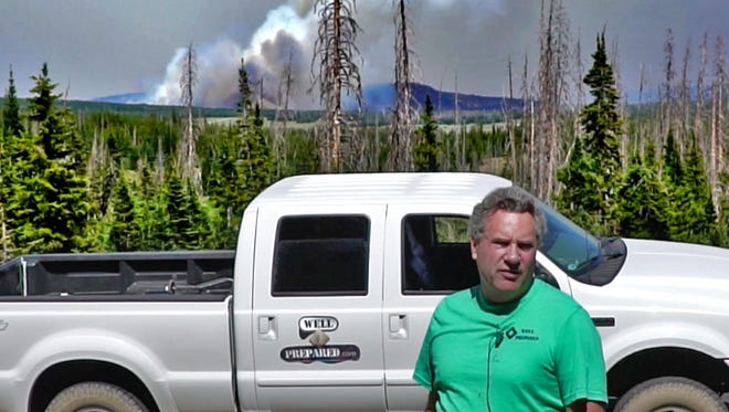 Scott Thomas, who will teach Dixie State University Community Education's free seminar on disaster preparedness, helps fight the Brian Head Fire in 2017. The seminar will be held on May 17 on the DSU campus.