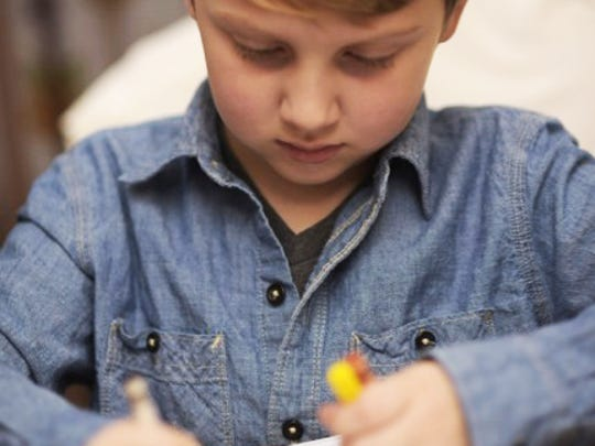 """Within weeks of beginning speech therapy and preschool special education services, Aubin Wahl – now 6 – began using his voice and said his first word, """"ball."""""""