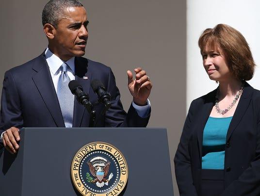President Obama and Patricia Ann Millett