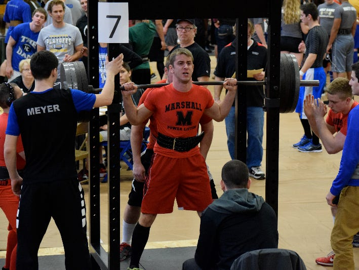 Marshall's Jack Friend finished runner-up in the 165-pound division at the Michigan High School Power Lifting Association State Meet in Muskegon on March 12.