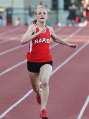 Wisconsin Rapids  Grace Hartman finished second in the Division 1 girls 200 meters during the WIAA state track meet Saturday.