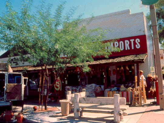Johnny Rose's Pool Hall, now Mexican Imports, was built