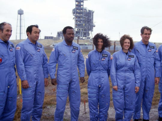 Space Shuttle Challenger's crew on January 28, 1986.