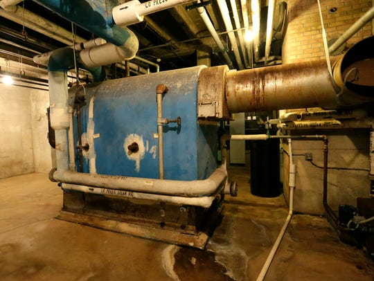 The boiler in the basement of SAGES in Fox Lake was