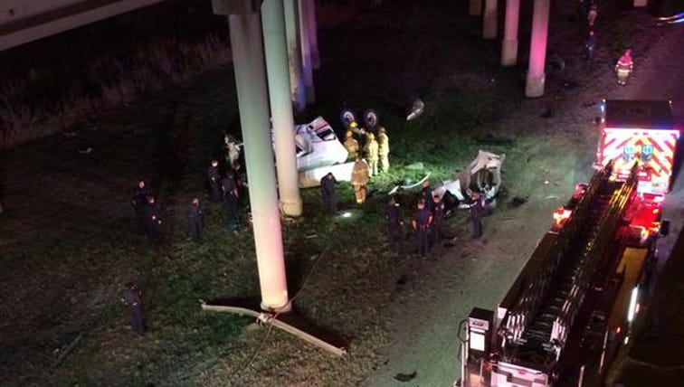 One person is dead after an 18-wheeler crashed over