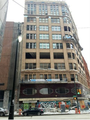 The vacant Capitol Park Building at 1145 Griswold St. is being redeveloped into 63 market-rate apartments.