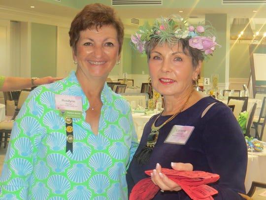 Rosilynn Barone, left, event chair, and Lorraine Cardarelli,