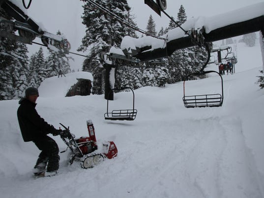 Homewood ski lift snowblower