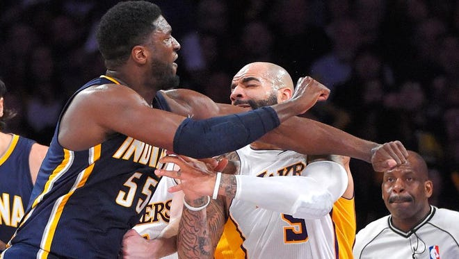 Can't we all get along? Nope. Roy Hibbert won't turn the other cheek after hard fouls anymore.