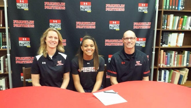 Franklin senior Mariah Wallace has signed to play college volleyball for Catawba Valley Community College.