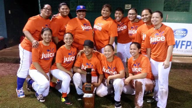 "Juice came out of the loser's bracket to repeat as the Bud Light Women's Fast Pitch League Queen of the Diamond champions at LeoPalace Resort. Juice defeated Bottomed Out 15-10 in eight innings on Aug. 2 and then won 11-10 in the ""if"" game under the double-elimination format on Aug. 3."