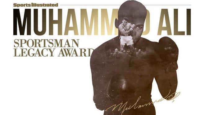The logo for the new Muhammad Ali Sportsman Legacy Award.