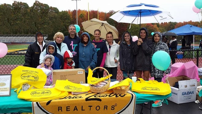 Agents from Gloria Zastko, Realtors, participated in the North Brunswick Care to Walk on Oct. 25 in honor of Gloria Zastko.