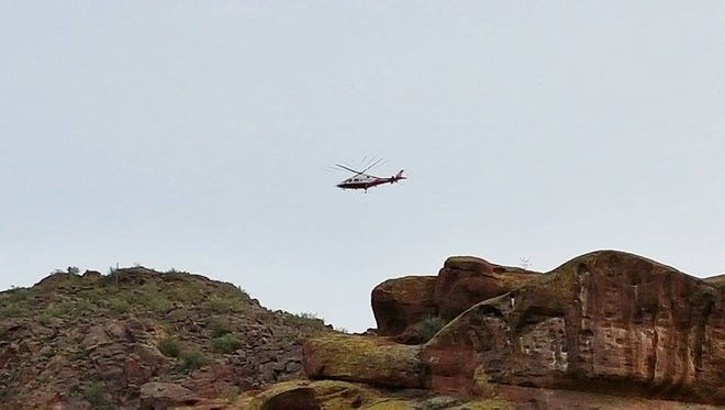Crews rescued a hiker off of Camelback Mountain on Thursday, Jan. 21, 2015.