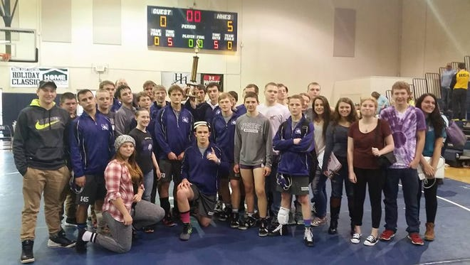 The Mitchell wrestling team.