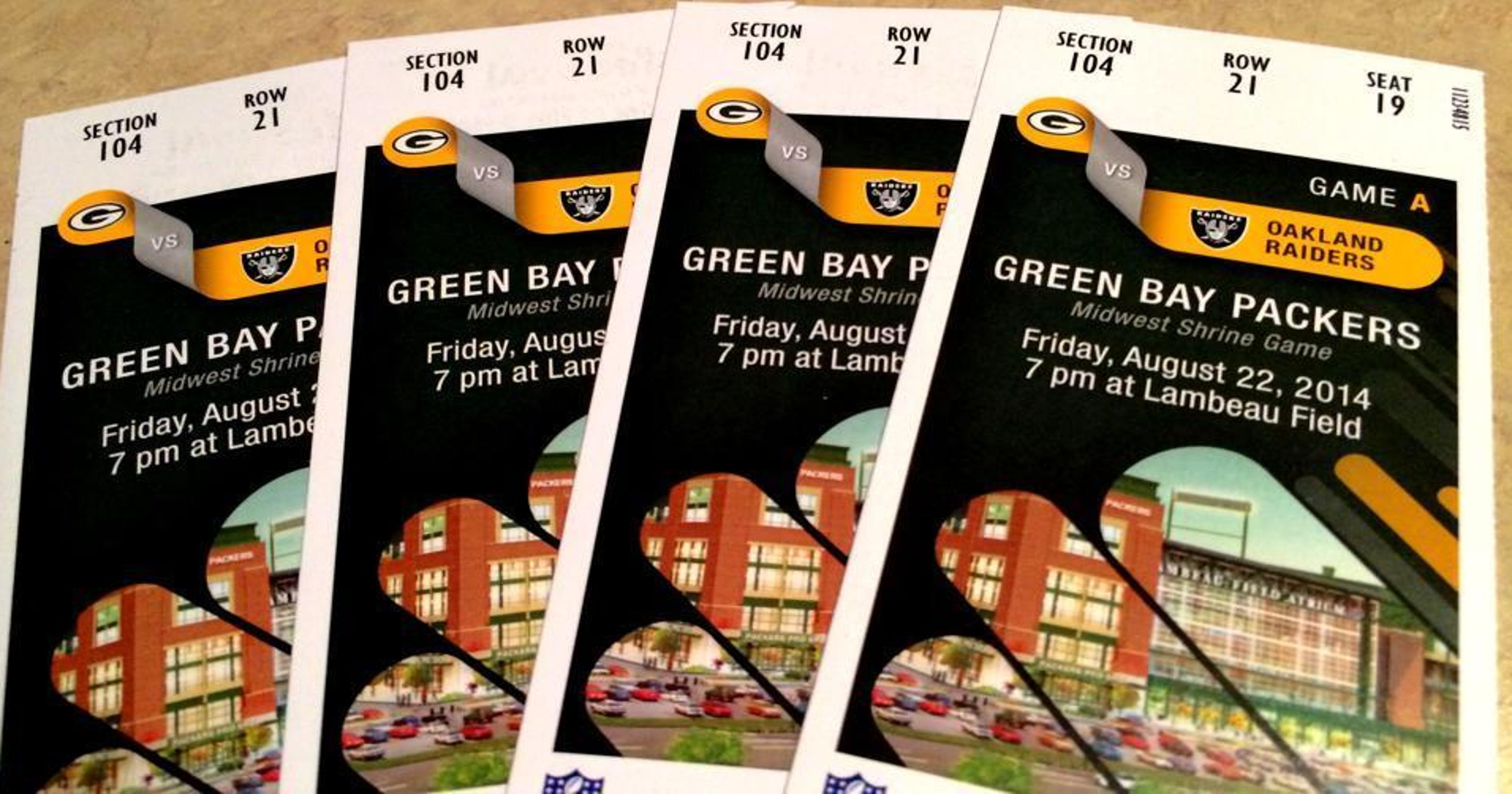 9a910015 Packers ticket prices go up for 2018