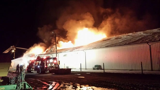 A fire damaged the west half of TNT Equipment in Sandusky early Tuesday morning.