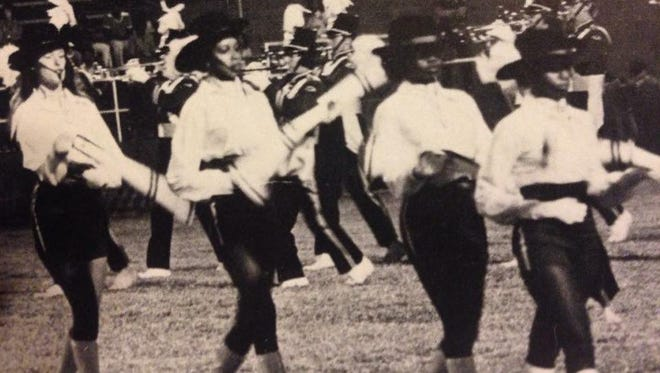 Members of the Jackson Central-Merry Marching Band of 1977.