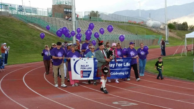 The Mesquite Relay for Life was held on Friday and Saturday and featured a survivors lap at the start of the event led by 40 cancer survivors.