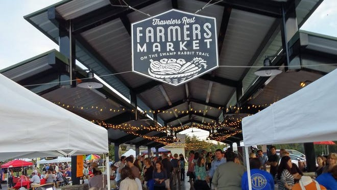 The Travelers Rest Farmers Market is but one of the many  markets offering fresh, local food, art and plants this season.