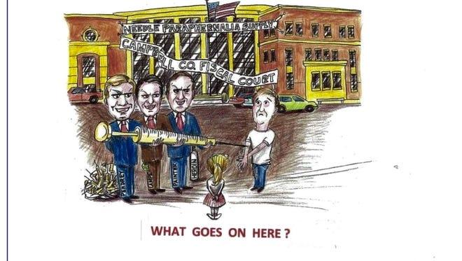 This cartoon has been circulating in Northern Kentucky.