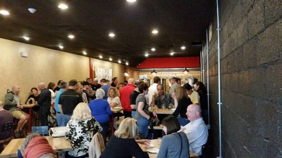 Beer lovers pack Nale House Brewery during a recent pop-up tasting. The brewery will host a grand opening celebration Thursday night.