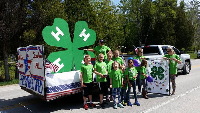Northern Door 4-H had the third-place float in the Jacksonport Maifest Parade.