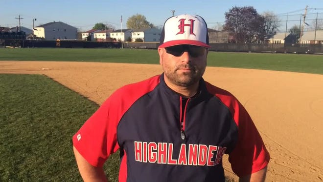 Governor Livingston head baseball coach Chris Roof is the 2016 CN Coach of the Year