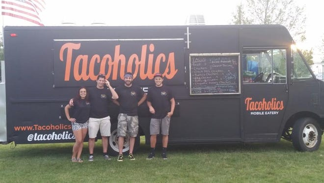 The team behind Tacoholics is, from left, Camille Dentino, Nick DeAngelo, Lou Raccuglia and Rob Bruno.