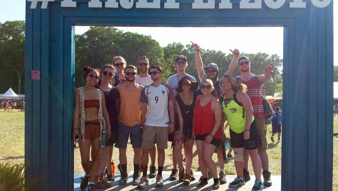 My friends and I at Firefly 2016.