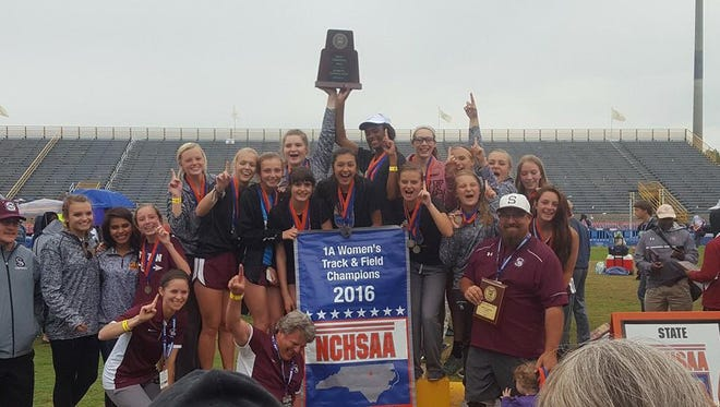 The Swain County girls won their first-ever NCHSAA 1-A track meet this spring and are trying to raise money so that every athlete can receive a championship ring.