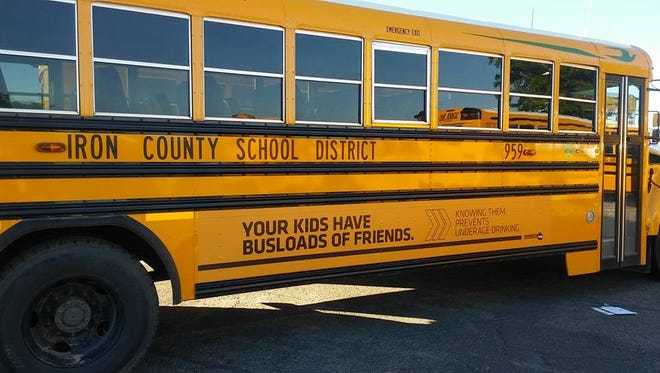 The Iron County Prevention Coalition recently added anti-drinking messages to 10 school buses and two garbage trucks in Cedar City and Enoch.