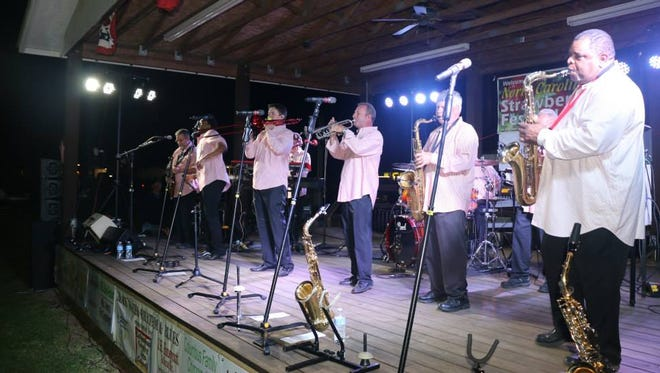 Blackwater Rhythm and Blues Band at the Strawberry Festival in Chadbourn, North Carolina in April 2015.