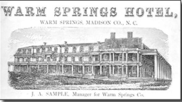 Hot Springs, once known as Warm Springs, was a tourist