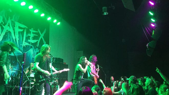 Rock band Bobaflex performed at the Walter Gerrells Performing Arts Center on Sunday.